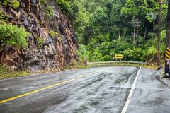 Wide road in the tropics Royalty Free Stock Image