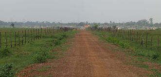 Wide Road. In Durgapur For Garden Stock Photos