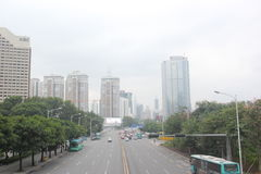 Wide roads and unobstructed traffic for SHENZHEN city Royalty Free Stock Photography