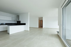 Wide room and kitchen island Royalty Free Stock Photography
