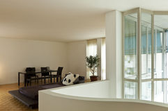 Wide room with large window Royalty Free Stock Photography