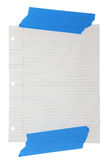 Wide Rule Lined Paper Taped Stock Photo