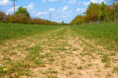 Wide rural dirt road Royalty Free Stock Photography