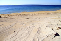 Wide beach. Wide sand beach in North Cyprus Royalty Free Stock Photos