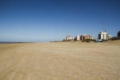 Wide sandy beach Stock Photo