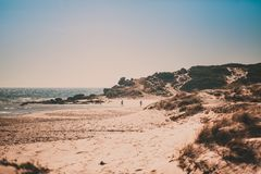 Cape Trafalgar beach in Spain stock image