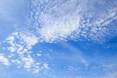 Wide scene of clouds in blue sky. Royalty Free Stock Photography
