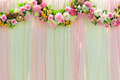 Wide scene wedding background Royalty Free Stock Photography
