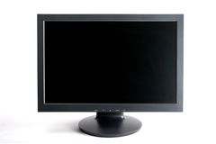 Wide Screen Computer Monitor Royalty Free Stock Image