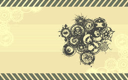 Wide-screen Format Vector Grunge Background Stock Images