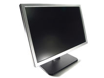 Wide Screen LCD Computer Monitor Royalty Free Stock Photo
