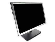 Wide Screen LCD Computer Monitor stock photography