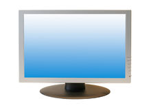 Wide Screen LCD Monitor. Isolated on white background Stock Photography