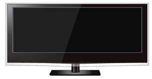Wide screen lcd monitor. An illustration of a large wide screen lcd led monitor Royalty Free Illustration
