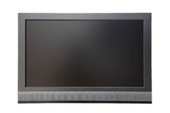 Wide screen LCD TV. Isolated on white background Royalty Free Stock Image