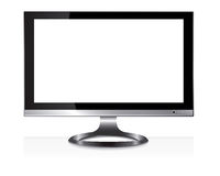 Wide screen monitor royalty free illustration