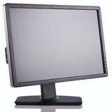 Wide Screen monitor. Wide Screen LCD  computer monitor on white background Royalty Free Stock Image