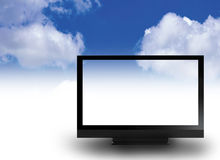 Wide screen TV  Stock Image