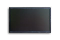 Wide screen TV isolated Stock Photo
