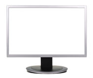 Wide screen TV isolated on a white Stock Images