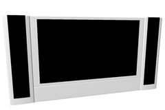 Wide screen TV set. Isolated on white royalty free illustration