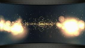 Wide screen TV wall stock footage