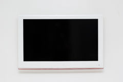Wide screen TV on the wall Royalty Free Stock Photo