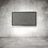 Wide screen TV. On wall in room Stock Photography