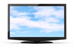 Wide screen tv Stock Photo