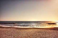A wide seascape with creative colors Royalty Free Stock Photo