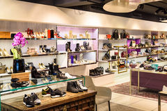 Wide Selection Of Woman Clothes In Shopping Mall Store Inside Royalty Free Stock Photo