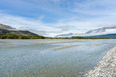 Wide shallow river Stock Images