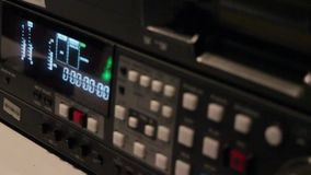 Wide shot the buttons and movement is noise level stock video footage