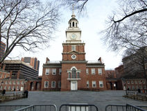 Wide shot of Independence Hall. Historic Independence Hall National Park in Philadelphia Royalty Free Stock Images