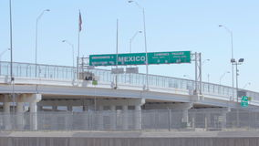 Wide Shot of Mexico Border stock video footage