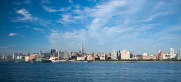Wide shot  of New york city skyline. A shot of buildings in new york Stock Images