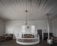 Wide shot of an old abandoned church Stock Images