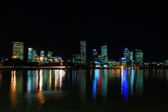 Wide shot of Perth City night Stock Image