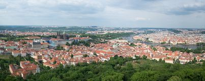 Wide shot from Petrin tower, Prague Stock Images