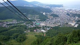 Shot of Sapporro city from the top of mountain moiwa, hokkaido,japan. Wide shot of Sapporro city from the top of mountain moiwa, hokkaido,japan stock video footage