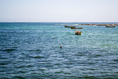 Wide shot of the sea. Wide view of the sea Stock Photography