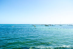 Wide shot of the sea. Wide view of the sea Stock Photo