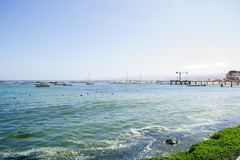 Wide shot of the sea. Wide view of the sea Royalty Free Stock Photo