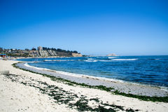 Wide shot of the sea. Wide view of seashore in Algarrobo Chile Royalty Free Stock Photos