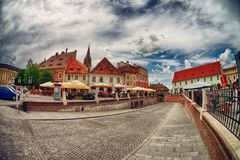 Sibiu city in Romania Royalty Free Stock Photography