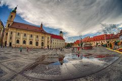 Sibiu city in Romania Stock Images