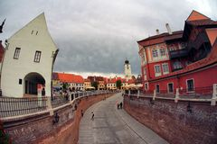 Sibiu city in Romania Stock Photography