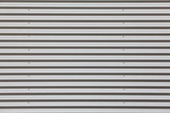 Wide shot of silver corrugated Royalty Free Stock Images