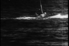 Wide shot submarine surfacing stock footage