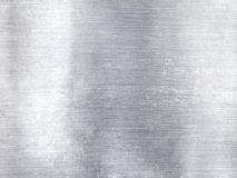 Wide silver metallic aluminum industrial textured background Stock Photos